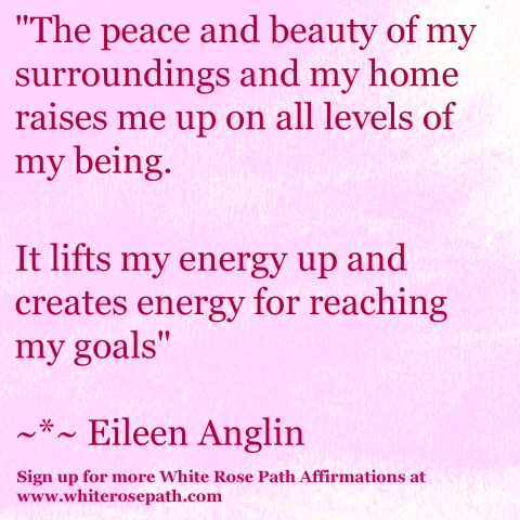 White Rose Path Affirmations by Eileen Anglin