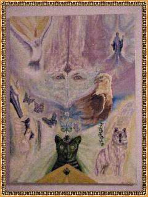 Channeled Soul Portrait  in oils 1999 Eileen Anglin gloriana whiterose@whiterosepath.com