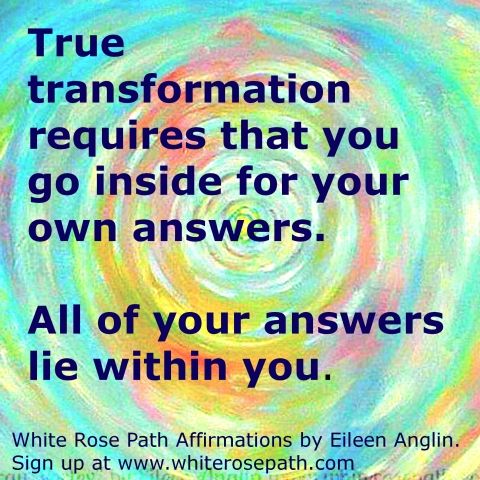 White Rose Path Affirmation by Eileen Anglin