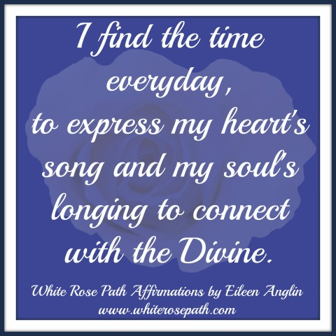 The Soul's Song. Connect to God through Creating. #whiterosepathaffirmations #angelempowermentcoaching