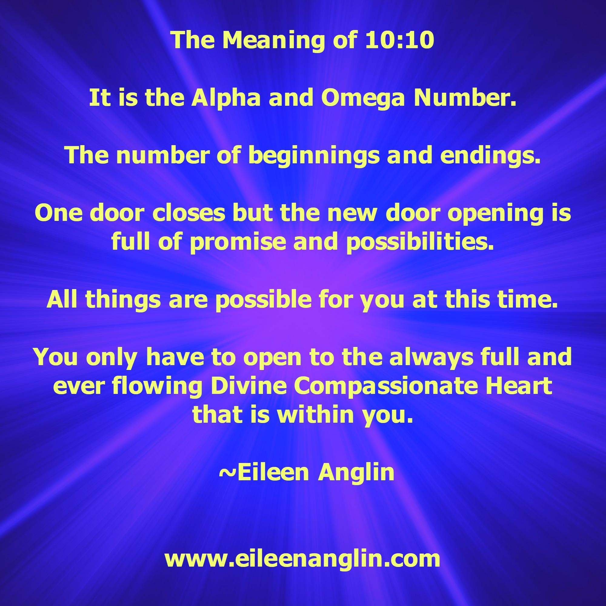 Spiritual numbers 1010