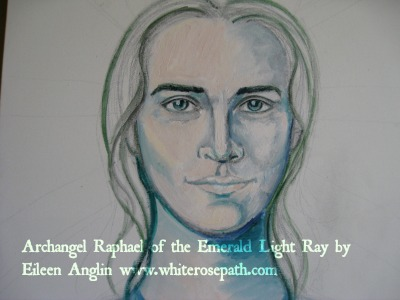 Archangel Raphael of the Emerald Light Ray by Eileen Anglin www.whiterosepath.com