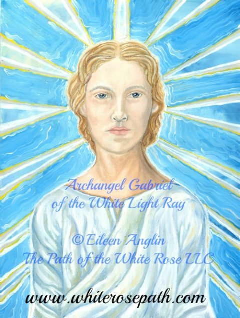Archangel Gabriel of the White Light Ray by Eileen Anglin
