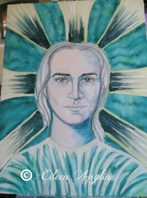 Archangel Raphael channeled portrait progression Eileen Anglin www.whiterosepath.com